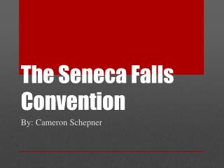 The Seneca Falls Convention