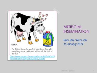 ARTIFICIAL INSEMINATION Rels  300 /  Nurs  330 15 January 2014