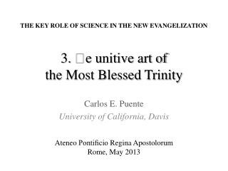 3.  e u nitive art of the Most Blessed Trinity