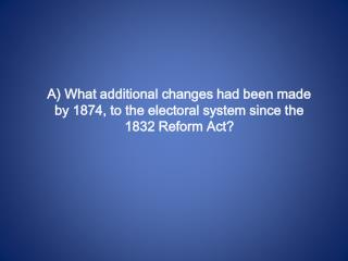 The Great Reform Act 1832