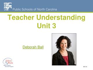 Teacher Understanding Unit 3