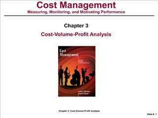 Chapter 3: CVP Analysis