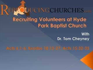 Recruiting Volunteers at Hyde Park Baptist Church