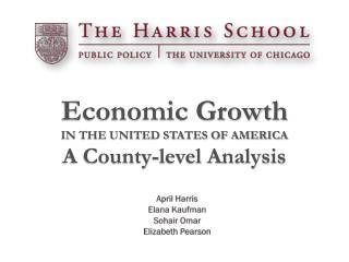 Economic Growth IN THE UNITED STATES OF AMERICA  A County-level Analysis