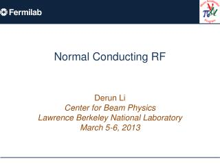 Normal Conducting RF
