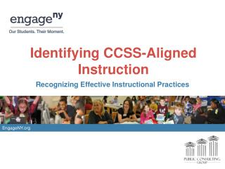 Identifying CCSS-Aligned Instruction
