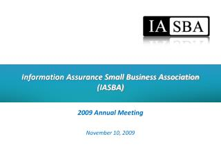 Information Assurance Small Business Association (IASBA)