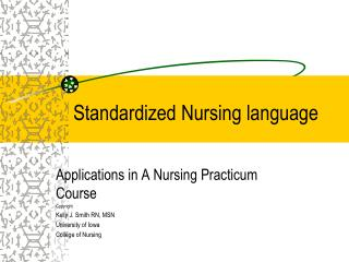 Standardized Nursing language