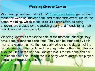 Wedding Shower Games