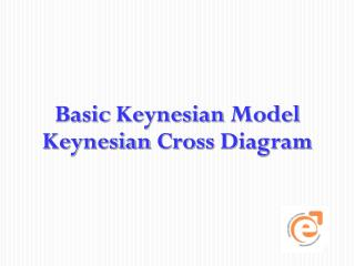 Basic  Keynesian Model Keynesian  Cross  Diagram