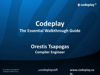 Codeplay The Essential Walkthrough Guide