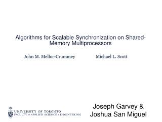 Algorithms for Scalable Synchronization on Shared-Memory Multiprocessors