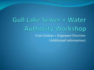 Gull Lake Sewer + Water Authority Workshop