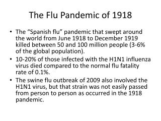 The Flu Pandemic of 1918