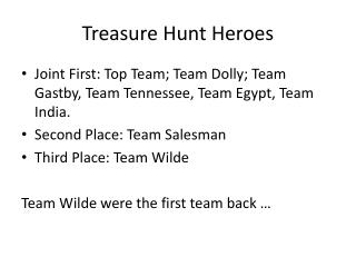 Treasure Hunt Heroes