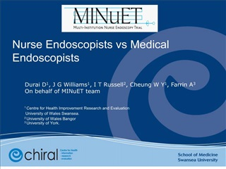 What is the clinical effectiveness of endoscopy undertaken by nurses
