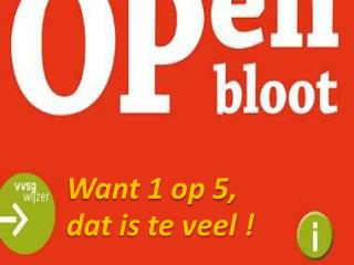 Want 1 op 5,  dat is te veel !