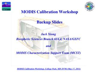 MODIS Calibration Workshop Backup Slides