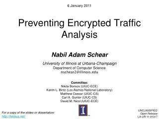 Preventing Encrypted Traffic Analysis