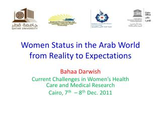 Women  Status in the Arab  World  from  Reality  to Expectations