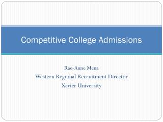 Competitive College Admissions
