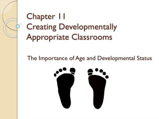 Chapter 11 Creating Developmentally Appropriate Classrooms