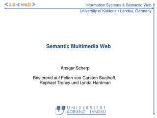 Semantic Multimedia Web
