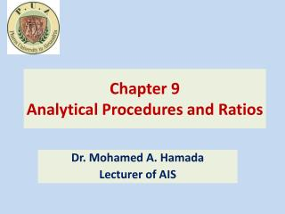 Chapter  9 Analytical  Procedures and Ratios