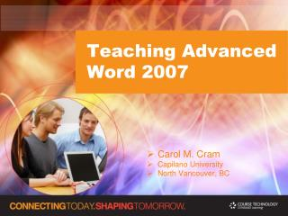 Teaching Advanced Word 2007
