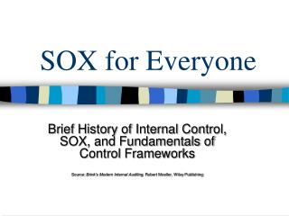 SOX for Everyone