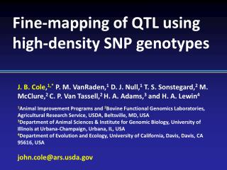 Fine-mapping of QTL using high-density SNP genotypes