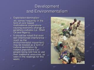 Development  and Environmentalism