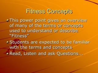 Fitness Concepts