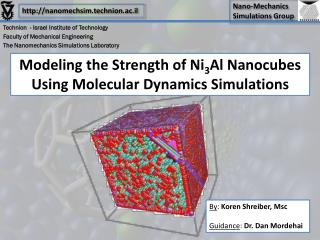 Modeling the Strength of Ni 3 Al Nanocubes Using Molecular Dynamics Simulations