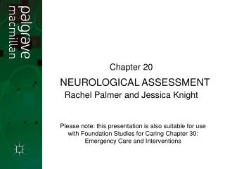 Neurological Assessment NEUROLOGICAL ASSESSMENT