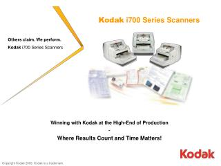 Kodak  i700 Series Scanners