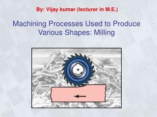 Chip-Type Machining Processes