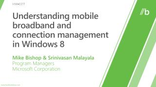 Understanding mobile broadband and connection management in Windows 8