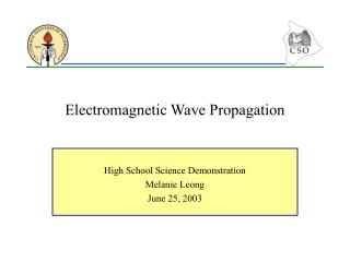 Electromagnetic Wave Propagation