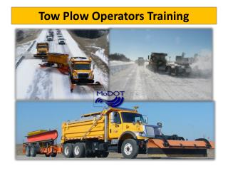 Tow Plow Operators Training