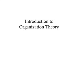 Introduction to Organization Theory
