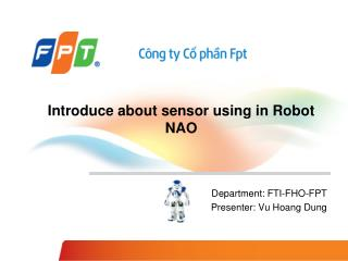 Introduce about sensor using in Robot NAO