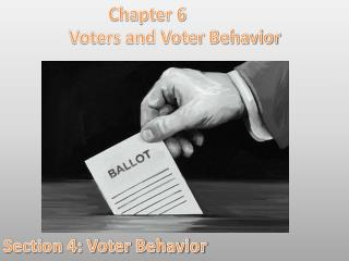 Chapter 6 Voters and Voter Behavior Section 4: Voter Behavior