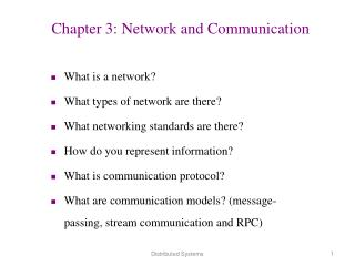 Chapter 3: Network and Communication