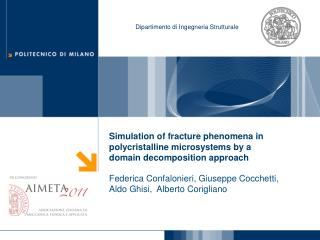 Simulation of fracture phenomena in  polycristalline  microsystems by a