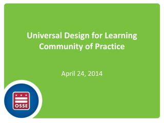 Universal Design for Learning Community of Practice