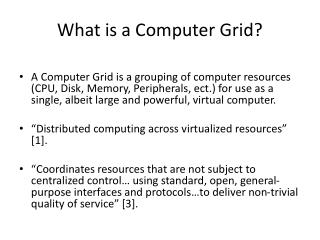 What is a Computer Grid?