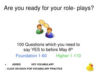 Are you ready for your role- plays?