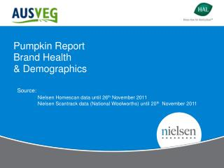 Pumpkin  Report Brand Health & Demographics