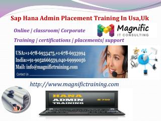 Sap Hana Admin Placement Training In Usa,Uk